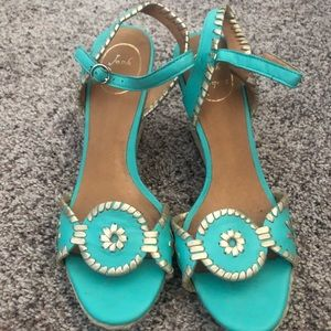 Turquoise Jack Rodger wedges